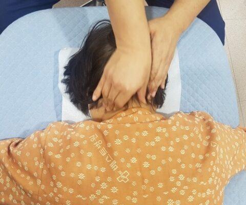 일자목 교정 입원치료